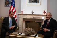 Assistant Secretary of State Daniel Fried and Kosovo President Fatmir Sejdiu