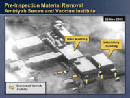 slide 15 aerial photo of pre-inspection material removal, amiriyah serum and vaccine institute