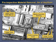 slide 16 aerial photo of pre-inspection materiel removal, ibn al haytham