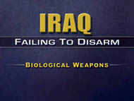 slide 19 introductory slide to Iraq: failure to disarm -- biological weapons