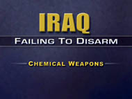 slide 24 Iraq: failing to disarm -- chemical weapons