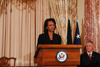 Secretary of State Rice. State Dept. photo
