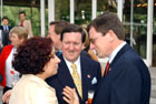June 2, 2003, Madrid, Spain: Left to right: Foreign Minister Palacio talking with NATO Secretary General, Lord Robertson and Under Secretary Grossman. Photo Courtesy of NATO.