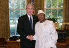 President Bush with Ambassador Mory Karamoko Kaba of the Republic of Guinea, July 25, 2007, at the White House for a credentials ceremony for new ambassadors to the U.S. White House photo-Eric Draper