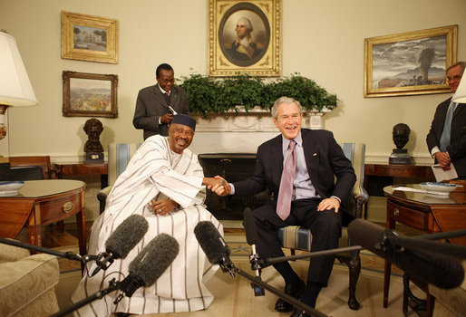 bush oval office. President George W. Bush And Mali Amadou Touré Meet In The Oval Office Tuesday