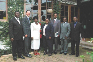 Assistant Secretary Fraser poses with Cameroonian Parliamentarians (State Department Photo).