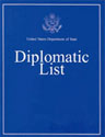 Publication cover: United States Department of State Diplomatic List.