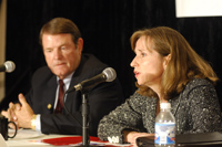 Under Secretary Paula Dobriansky and Mike Morris, AEP Chairman, President American Electric Power [Courtesy of American Electric Power Oct. 2006]