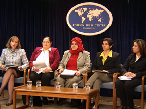 Paula Dobriansky -- on far left -- and Iraqi Women
