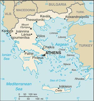 Greece - Us embassy athens map