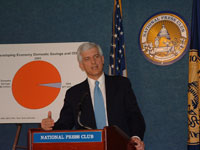 Under Secretary Larson at National Press Club briefing, January 13, 2005