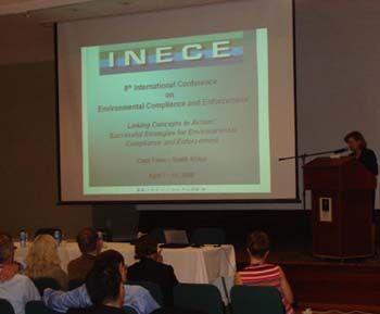 Assistant Secretary McMurray delivered a keynote at the Eighth International Conference on Environmental Compliance and Enforcement on April 8, 2008, Cape Town, South Africa [State Dept. Photo]