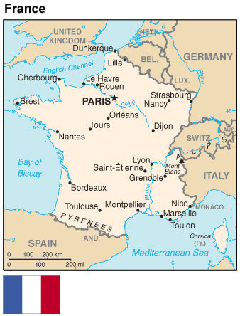 Map Of France With States.France