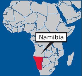 Namibia Africa Map | Jackenjuul