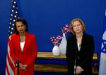 Secretary Rice with Israeli Foreign Minister Zipi Livni [State Dept. Photo].