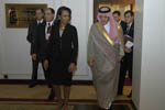 Secretary Rice and Saudi Foreign Minister Al Faisal [State Dept. Photo].