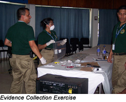 International Law Enforcement Academy, San Salvador, El Salvador - Evidence Collection Exercise
