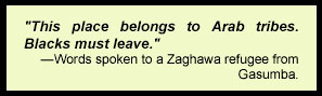 Words spoken to a Zaghawa refugee from Gasumba