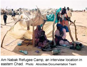 Am Nabak Refugee Camp, an interview location in eastern Chad
