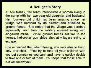 A Refugees Story text box