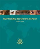 Trafficking In Persons Report June 2008 cover.