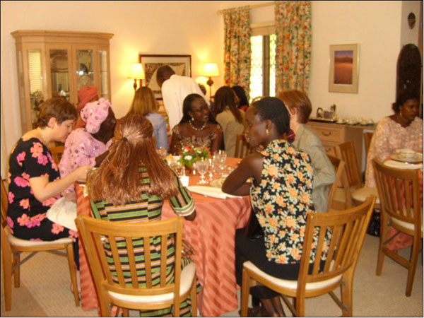 Malian young women attend DCM-hosted luncheon at U.S. Embassy Bamako. State Department photo.