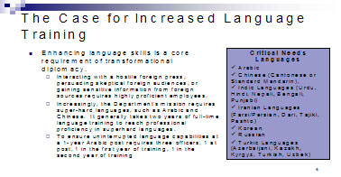 Figure 2: The Case for Increased Language Training