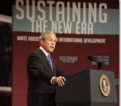 Date: 10/21/2008 Location: Washington, DC Description: President Bush speaking during the Summit on International Development. © White House Photo