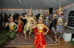 Date: 05/09/2008 Description: Traditional Cambodian dancers entertain attendees at a fundraiser held to support demining efforts in Cambodia. The event, held at the Royal Embassy of Cambodia, raised over $13,000. Photo by Mike King