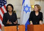 Date: 11/06/2008 Location: Tel Aviv, Israel Description: Secretary of State Condoleezza Rice in joint press availability with Foreign Minister Livni, at the U.S. Ambassador Residence in Tel Aviv, November 06, 2008. © Photo Credit:  Matty Stern/U.S. embassy Tel Aviv