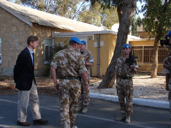 Date: 11/14/2008 Location: Cyprus Description: Assistant Secretary Brian H. Hook meeting with United Nations Peacekeeping Force in Cyprus (UNFICYP).  State Dept Photo
