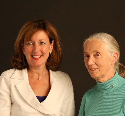 Date: 09/03/2008 Location: New York City Description: Assistant Secretary McMurray and Dr. Jane Goodall at the filming of two public service announcements on wildlife trafficking. State Dept Photo