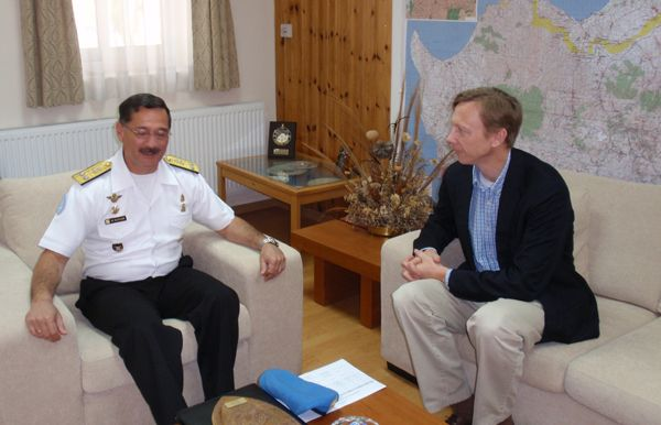 Date: 11/14/2008 Location: Cyprus Description: Assistant Secretary Brian H. Hook meeting with Force Commander of the United Nations Peacekeeping Force in Cyprus (UNFICYP), Mario Sanchez Debernardi. State Dept Photo