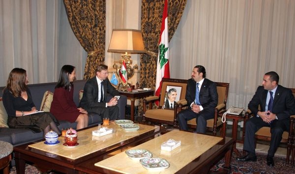Date: 10/22/2008 Location: Southern Lebanon Description: Assistant Secretary Brian H. Hook meeting with Saad al-Hariri. State Dept Photo