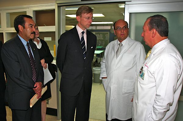 Date: 08/21/2008 Location: Central America Description: In August 2008, Assistant Secretary Brian H. Hook traveled to Haiti, Costa Rica, and Panama to consult with counterparts and visit UN programs. In Costa Rica and Panama, the Assistant Secretary visited Pan American Health Organization and other UN health-related sites. The U.S. provides approximately 60% o PAHO