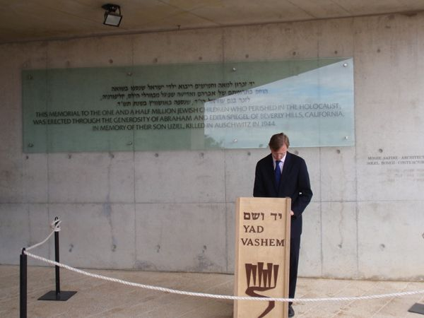 Date: 10/22/2008 Description: Assistant Secretary Brian H. Hook visits Yad Vashem. The United States, along with Israel, Australia, Canada submitted a resolution on Holocaust Remembrance that 65 other UNESCO Member States co-sponsored, and 193 Member States of UNESCO adopted by consensus in October 2007. State Dept Photo