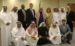 Date: 12/02/2008 Location: Saudi Arabia Description:    A/S McMurray and Prince Torki al-Saud, vice president of the King Abdulaziz City of Science and Technology (KACST), pose with Saudi and American officials following the signing of the US-KSA Science and Technology Cooperation Agreement, in the KACST offices, Riyadh.  Embassy Riyadh Economics Counselor Eric Madison and OES officer Bruce Howard stand to the Prince