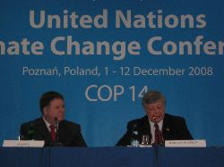 Date: 12/02/2008 Location: Poznan, Poland Description: Daniel Reifsnyder, Deputy Assistant Secretary of State for Environment and Sustainable Development and Harlan Watson, Ambassador and Alternate Head of the U.S. Delegation State Dept Photo