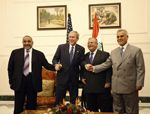 Date: 12/14/2008 Location: Baghdad, Iraq Description: President George W. Bush poses for photos with Iraq