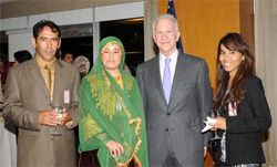 Date: 09/26/2008 Description: Under Secretary Glassman with young Muslim contacts, September 26, 2008.  [State Dept Photo]