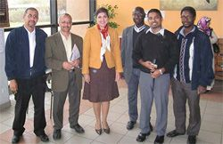 Date: 10/21/2008 Description: Farah Pandith with teachers and administrators from Lyon's Islamic Al-Kindi High School, October 21, 2008. [Harry Sullivan, APP Lyon]