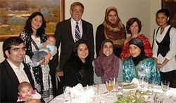 Date: 09/23/2008 Description: Both younger and older guests enjoyed the Iftaar at Ambassador Whitney's residence on September 23, 2008. [Hilary Olsin-Windecker, U.S. Embassy Oslo]