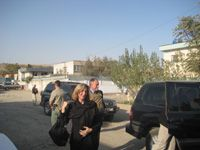 Date: 10/15/2008 Description: Former Lieutenant Governor Kerry Healey and Attorney Peter Garvin arrive for a meeting with senior justice sector officials in Kabul, Afghanistan. State Dept Photo